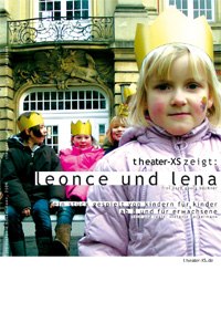 Plakat, theater-xs, Leonce & Lena, Din A3