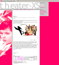 theater-xs.de, website, Webdesign, Codierung: xhtml, css, statisch